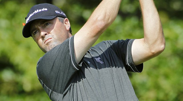 Ryan Palmer during the first round of the Deutsche Bank Championship.