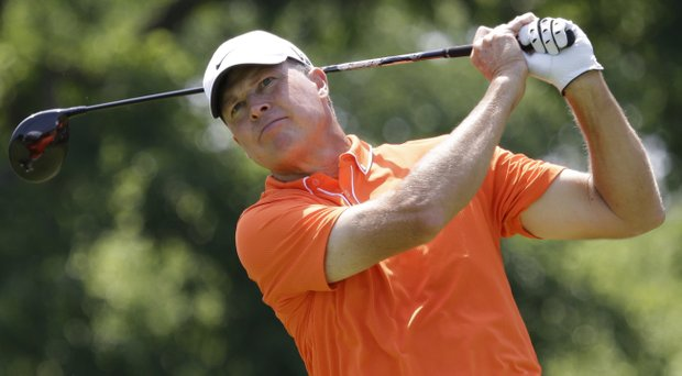 Bob Tway fired a 7-under 63 in the third round of the Champions Tour's Shaw Charity Classic.