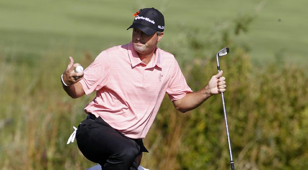 Ryan Palmer during the second round of the Deutsche Bank Championship.