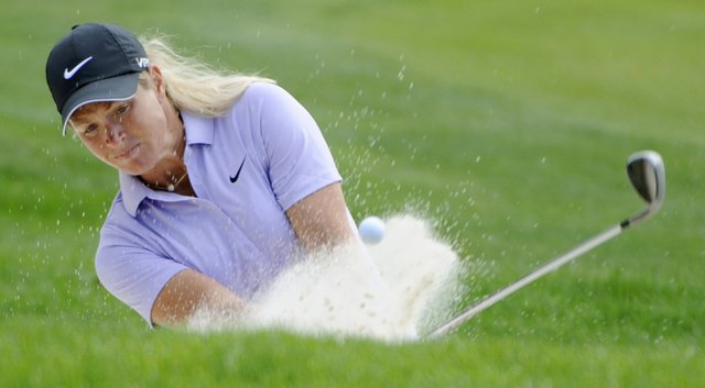 Suzann Pettersen shared the lead through three rounds at the Portland Classic.