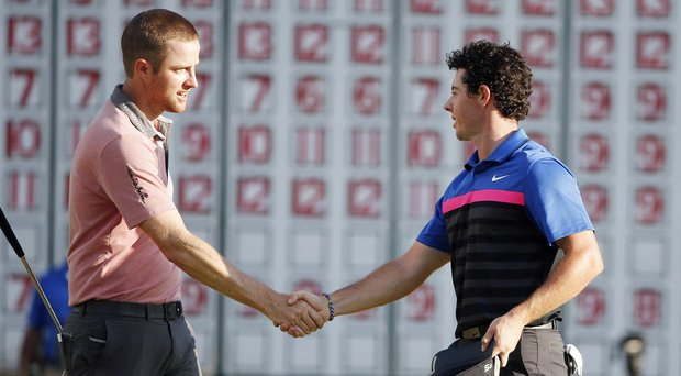 Chris Kirk and Rory McIlroy will play in the same group alongside Hunter Mahan for the first two rounds of the 2014 BMW Championship at Cherry Hills Country Club.