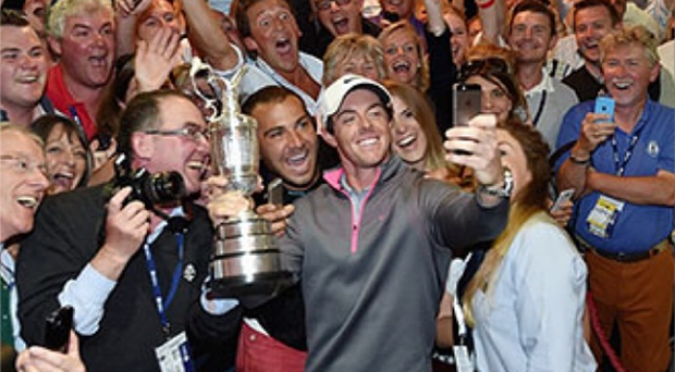 Rory McIlrory took his celebration to social media after winning The Open Championship.