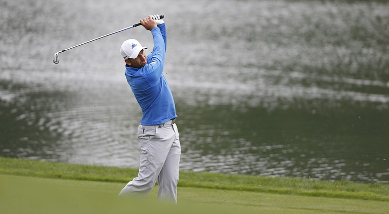 Sergio Garcia shot 6-under 64 to grab a one-shot lead after two rounds of the BMW Championship at Cherry Hills.