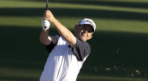 Greg Chalmers has the 54-hole lead at the Chiquita Classic.