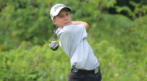 Mason Nome, 13, has verbally committed to play college golf for the University of Texas