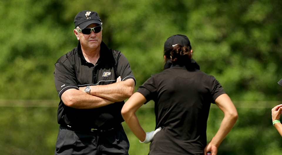 Purdue posted an opening 5-under 283 to grab the first-round lead at the Landfall Tradition Friday at the Country Club of Landfall, where the Boilermakers won the 2010 NCAA Women's Championship.