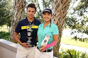 Marcos Montenegro and Ana Paula Valdes won the Golfweek International Junior Invitational at ChampionsGate.