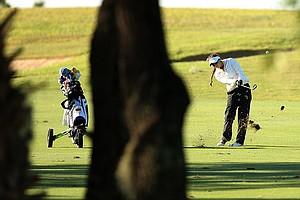 Clementina Rodriguez hits a shot during the Golfweek International Junior Invitational at ChampionsGate.