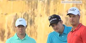 Trio relives best shots of DP World Tour Championship
