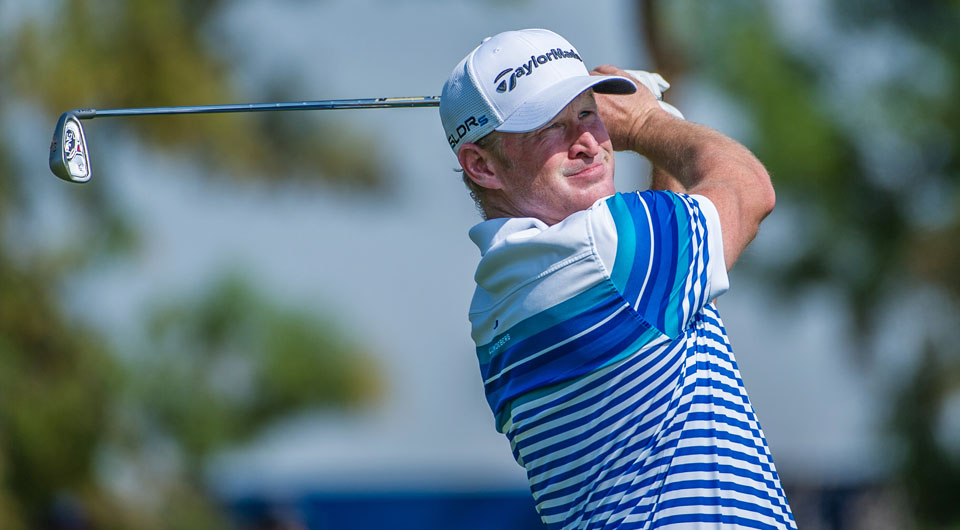 Jamie Donaldson shot 5-under 67 Saturday at the DP World Tour Championship. He also saved a cat that was stuck on a roof at the Jumeirah Golf Estates clubhouse.