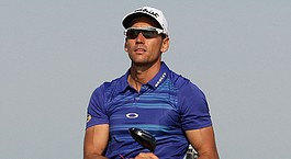 Cabrera-Bello, Stenson share lead in Dubai