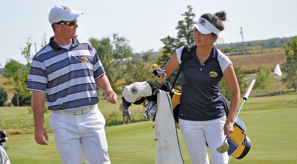 After quietly moving up the college women's golf rankings this fall, Kent State now looks for a spark to close out tournaments.
