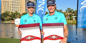 Team Langer wins PNC Father/Son Challenge by 2