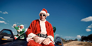 Watson makes rap music video as Bubba Claus