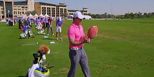 VIDEO: Rory McIlroy tries his hand at rugby