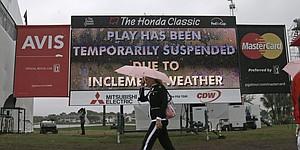 Heavy winds bring down Honda Classic scoreboard