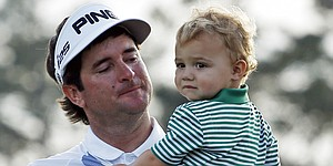 Watson: Son Caleb needed diaper change during Masters ceremony