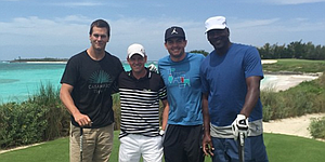 Bradley and Donald play golf, hoops with Jordan and Brady in Bahamas