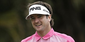 Bubba Watson performs live with hip-hop artist KB