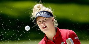 Charley Hull takes on LPGA with veteran's game but teen's spirit