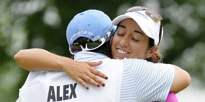 From left: Meaghan Francella and Marina Alex, shown at the 2015 U.S. Women's Open