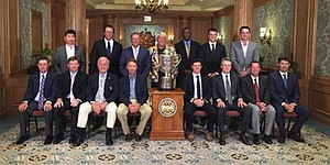 Where's Tiger? Woods absent from PGA champions dinner photo