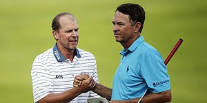 Stricker cards 71 at PGA playing alongside pair of Ryder Cup captains