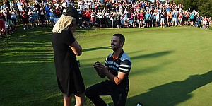 Video: European Tour golfer proposes on course at Made in Denmark