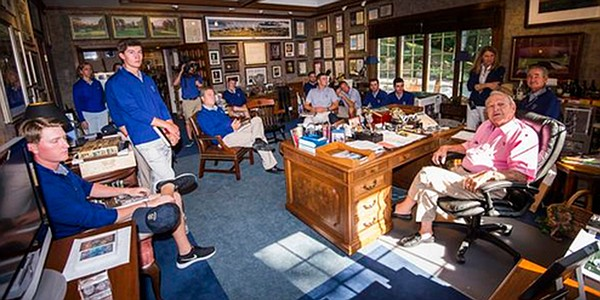 U.S. Walker Cup preparation includes visit with Arnold Palmer