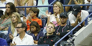 Tiger, daughter attend Nadal match at U.S. Open