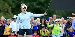 Charley Hull leads charge for Team Europe at Solheim Cup