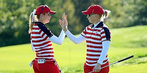 Creamer, Pressel lead Americans to solid start at Solheim Cup