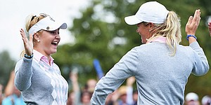 Hull, Pettersen roar back to extend Europe's Solheim Cup lead