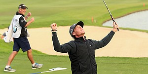 Kristoffer Broberg wins BMW Masters in playoff over Patrick Reed