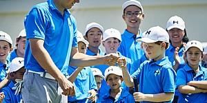 PHOTOS: Jordan Spieth hosts junior clinic in Australia