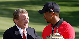 Tim Finchem glad to see Tiger Woods 'alive' at Hero World Challenge