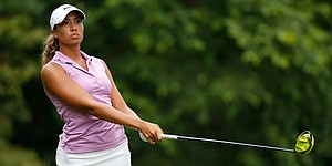 Cheyenne Woods back at Q-School relaxed, in position for full LPGA status