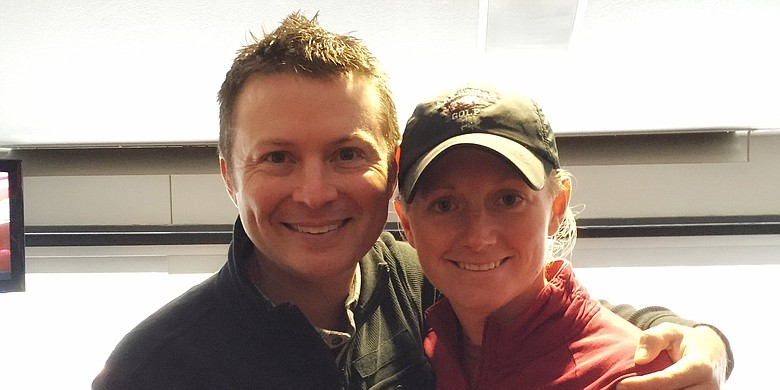 Gerrod Chadwell (left) and Stacy Lewis