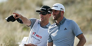 Dustin Johnson subs trainer for brother/caddie at Kapalua