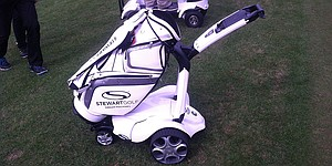 Stewart Golf's X9 Follow, the golf trolley that follows you