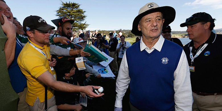 Bill Murray in his element at the AT&T Pebble Beach Pro-Am