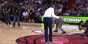 Kuchar chips in two half-court shots at Heat game