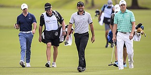 """Big Three"" plays first round at WGC-Cadillac Championship together to mixed results"