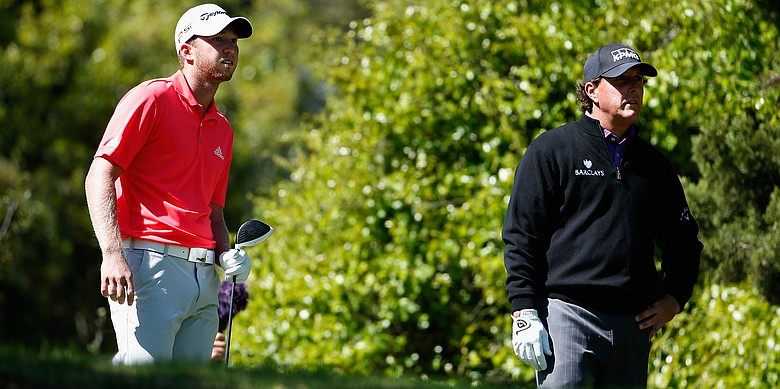 Daniel Berger and Phil Mickelson at 2016 WGC-Dell Match Play.