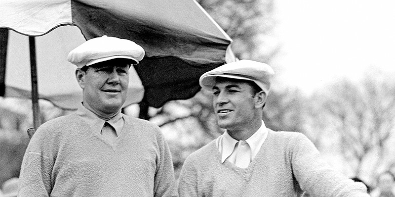 Byron Nelson (left) and Ben Hogan.
