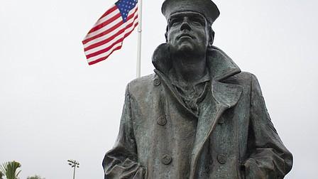 Statue commemorates Baldwin Park's Naval history