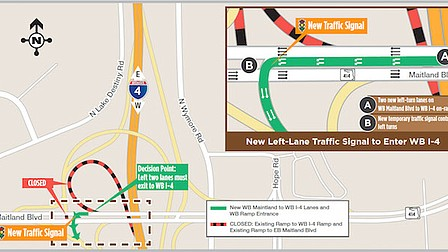 Maitland traffic changes trouble Thanksgiving travel