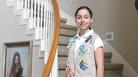Baldwin Park Girl Scout delivers donations to Haiti