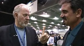 Jeff Rude converses with short game guru Dave Pelz, and picks up a tip on better lag putting in the process.