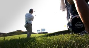 Golfweek staff writer Sean Martin tours the 11th hole at Whistling Straits with Ryan Moore.